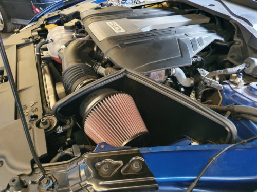 Cold air intake by Harrop for Ford Mustang